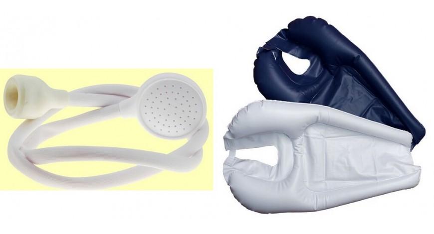 Grifo de ducha especial/ Soporte inflable para lavado de cabeza